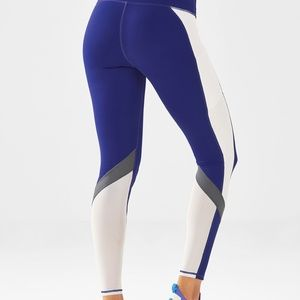 NWT Fabletics blue power hold leggings - small